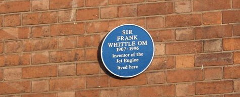 Blue Plaque, Sir Frank Whittle, Leamington Spa